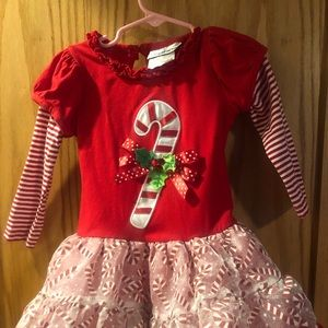 Rare Edition Toddler girl candy cane striped dress